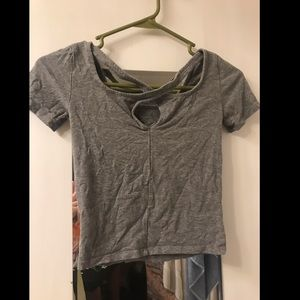 Cropped Strappy Tee